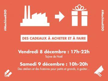 Machine à Cadeaux, les 8 et 9 décembre chez Intencity Clichy
