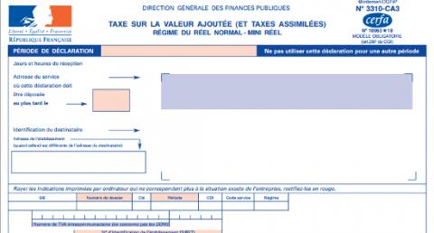 formulaire TVA